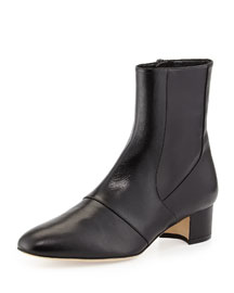 Tagnopla Seamed Ankle Boot, Black