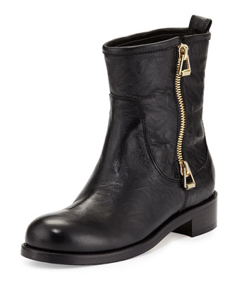 Dondo Leather Zip Bootie