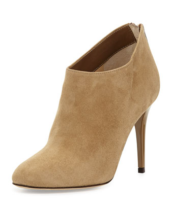 Mendez Suede Ankle Boot, Taupe