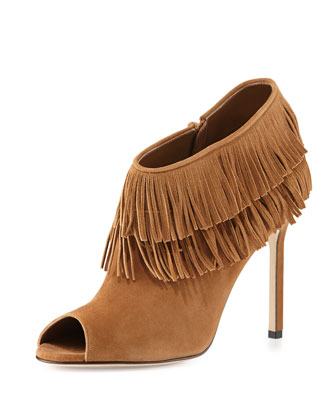 Nabuoppla Fringe Ankle Boot, Tan