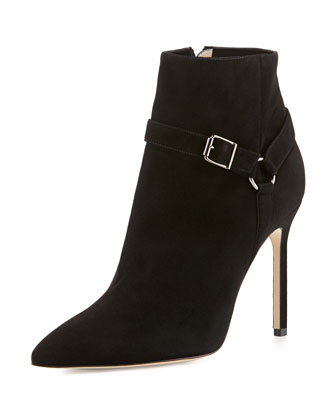 Rhecha Suede Harness Ankle Boot