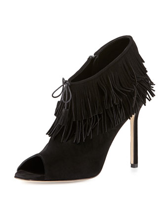 Nabuoppla Fringe Ankle Boot, Black