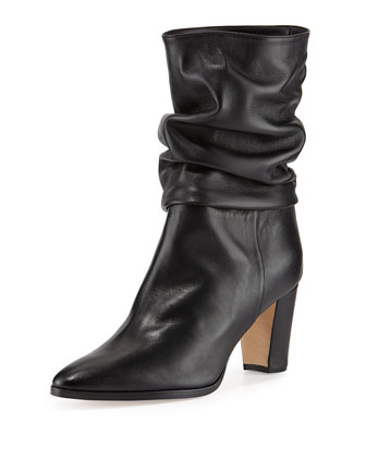 Knight Ruched Leather Boot