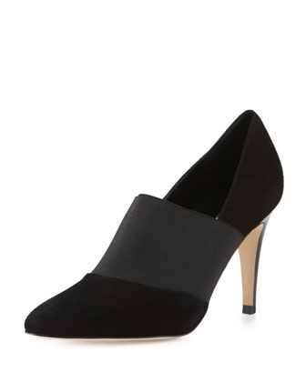 Zarle Stretch Suede Ankle Boot