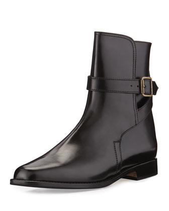 Sultana Buckled Flat Bootie