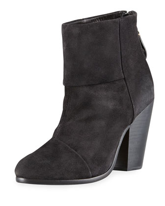 Newbury Classic Suede Ankle Boot, Charcoal
