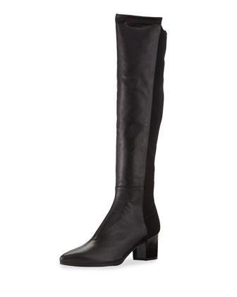 Demisvelt Point-Toe Knee Boot, Black