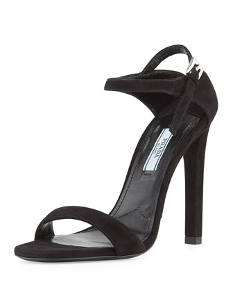 Suede Ankle-Strap d'Orsay Sandal