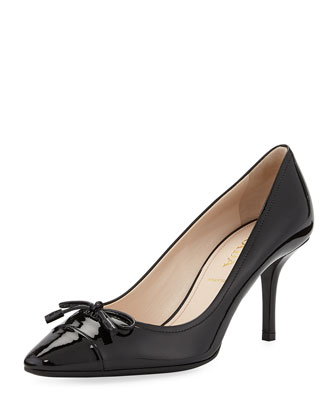 Patent Cap-Toe Bow Pump