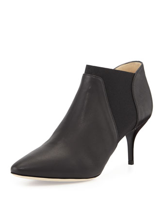 Darby Leather Ankle Boot, Black