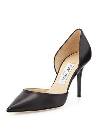 Addison Leather d'Orsay Pump, Black