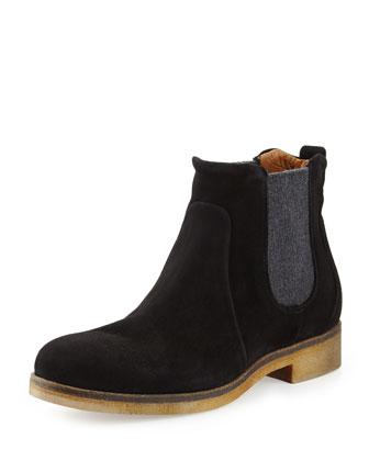 Lioni Suede Chelsea Boot, Black