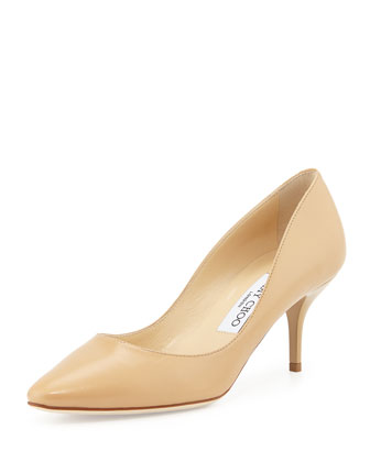 Match Leather Pump, Neutral