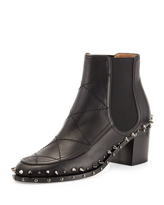 Farrell Quilted Spiked Chelsea Boot