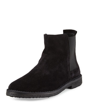 Cody Shearling-Lined Suede Bootie, Black
