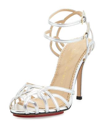 Ursula Strappy Metallic Sandal