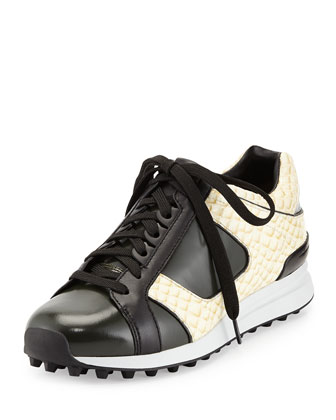 Trance Snake-Print Athletic Sneaker