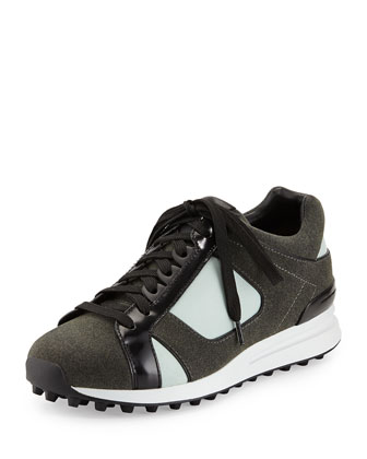 Trance Mixed-Media Athletic Sneaker