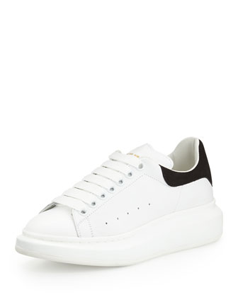 Leather Low-Top Sneaker, White