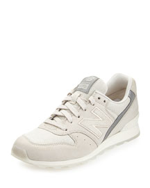 696 Leather Trainer, Ivory