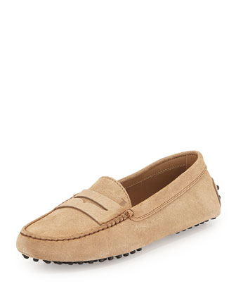 Gommini Suede Penny Driver, Brown