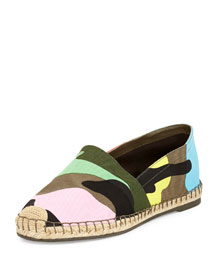 Psychedelic Camo-Print Flat Espadrille