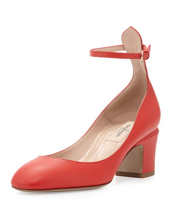 Tango Napa Leather Pump, Orange