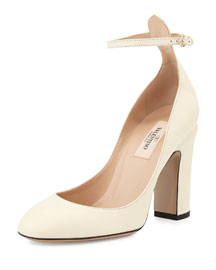 Tango Napa Leather Pump, Ivory