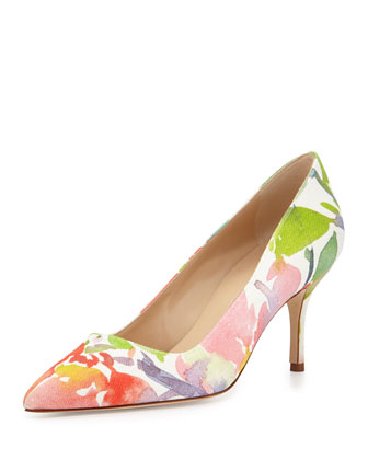 BB Floral Watercolor Point-Toe Pump