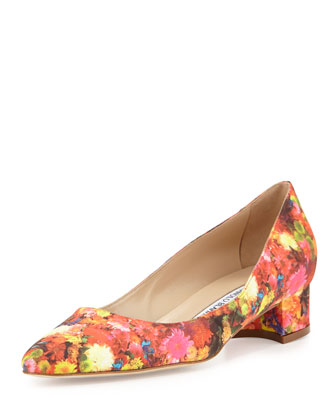 Listony Floral Satin Low-Heel Pump