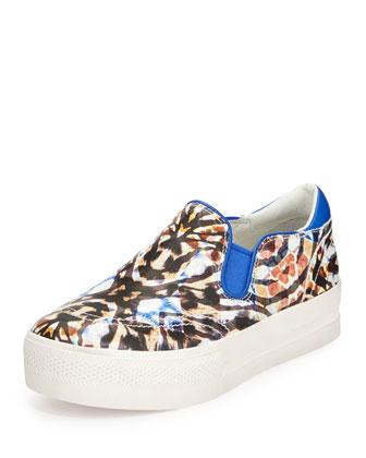 Jam Bis Graphic-Print Skate Sneaker, Blue/White