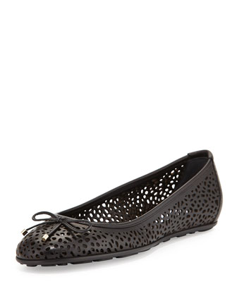 Walsh Leather Ballerina Flat, Black