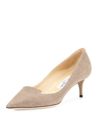 Allure Pointed Loafer Pump, Taupe