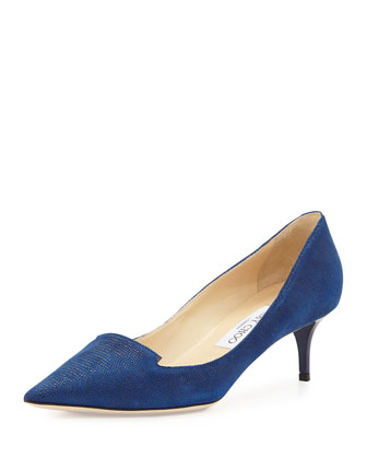 Allure Speckled Loafer Pump, Navy