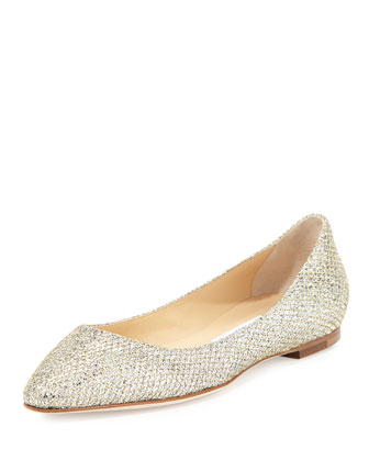 Goa Glitter Fabric Flat, Gold