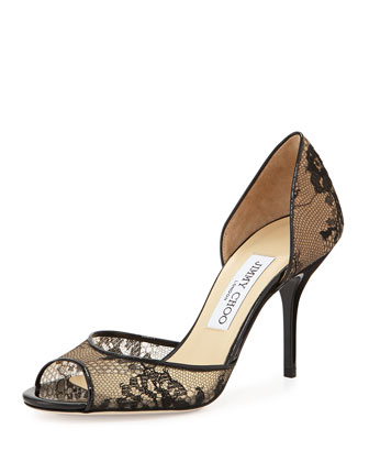 Lien Lace d'Orsay Pump, Black