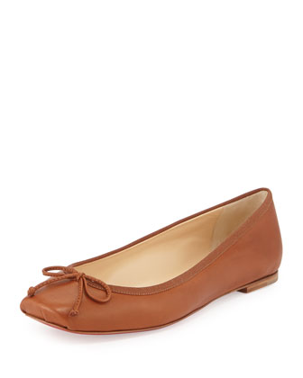 Rosella Leather Ballet Flat, Tan