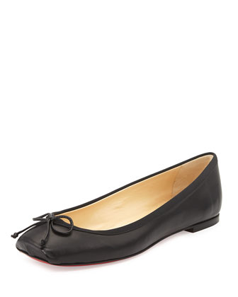 Rosella Leather Ballet Flat, Black