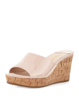 Patent Slip-On Cork Wedge