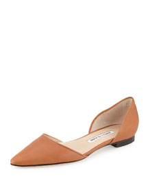 Soussaba Leather d'Orsay Flat, Camel