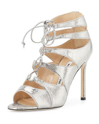 Maisa Metallic Lace-Up Sandal