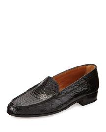 Croc Venetian Loafer, Black