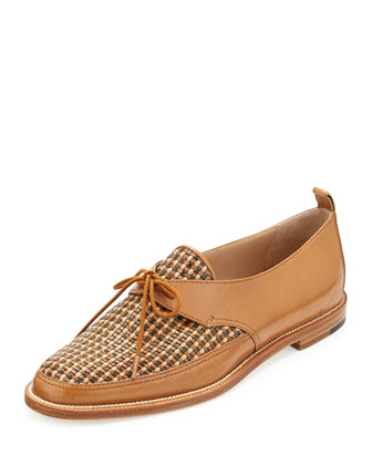 Masina Woven Lace-Up Loafer