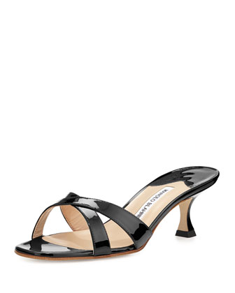 Callamu Patent Crisscross Slide, Neutral