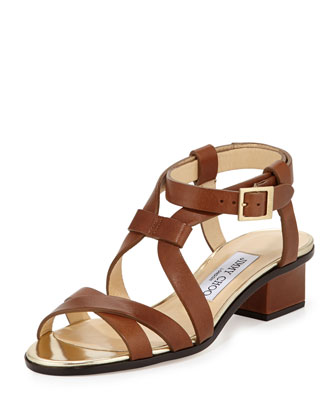 Mitsu Strappy Leather Sandal, Soil