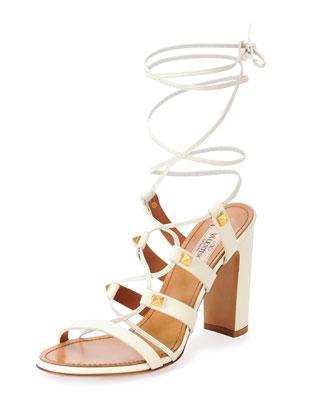 Rockstud High-Heel Gladiator Sandal
