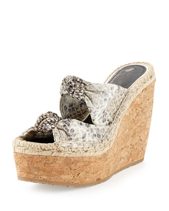 Priory Knotted Python Mule Sandal