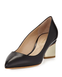 Point-Toe Triangle Pump, Black