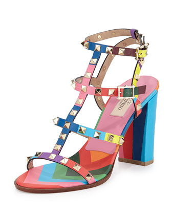 1973 Rockstud Multicolor City Sandal