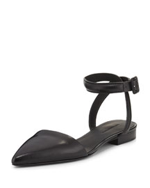 Lauren Crisscross Point-Toe Flat Sandal